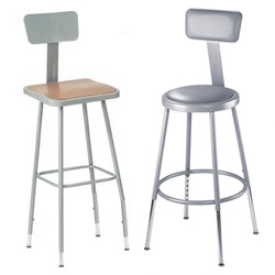 Science Lab Stools! I think these would look pretty awesome in so many other places... and adjustable height and totally affordable too!