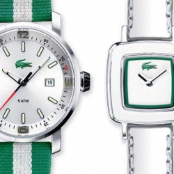 Its French Open time and lacoste is one of the main sponsors. Therefore they are previewing their new watch collection designed by Christophe Pillet at the Parisian ConceptStore Colette. Some nice pieces!