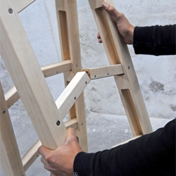 Co&Co's The Corner Ladder, a ladder that can fit in any corner.