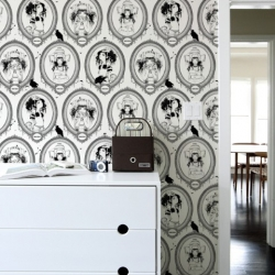 Camilla d'Errico wallpapers and murals. Oh-so-gorgeous patterns of Helmetgirls and brightly colored murals