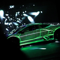 Projection Mapping a Lamborghini: One of the world's most elite (and expensive) cars recently became a canvas for the creative whims of the techie minds at The Media Merchants, a technology-driven production agency based in Vancouver.