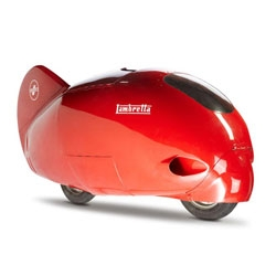 The Lambretta Record, a record-breaking scooter that in 1951 reached 201 kilometers per hour.