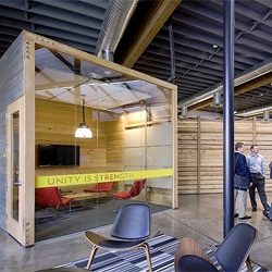Lake Flato Architects designed a new office for the Lance Armstrong Foundation in Austin, Texas.