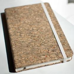 Landmade cork journals from Michael Roger Press.