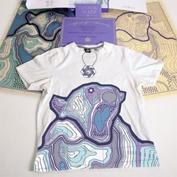 Anand Design - Sixpack-Arctic Circle: limited edition of t-shirts with an illustration of a topography map in the shape of a polar bear.