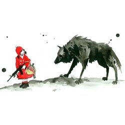 Lora Zombie's Red Riding Hood limited edition print