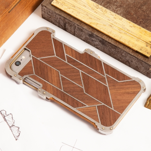 Art deco inspired cases from Stone Jelly. Hand built from real oak, steel & brass.