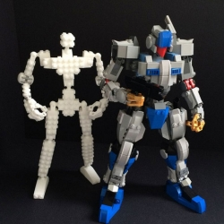 3D printed LEGO Compatible Robot Frame by MyBuild. Download the 3D models for free.