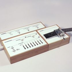 The Well–Sequenced Synthesizer is a series of sequencers that give musical rules physical interfaces.