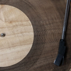 Amanda Ghassaei used a laser cutter to engrave audio into wood, acrylic, and paper discs. Sure, the sound quality is, er, terrible, but… art! Previously, she 3D printed records from MP3s.