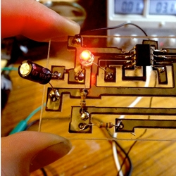 Rich Olson from Nothing Labs uses a 40 watt laser cutter to make his own circuit boards.
