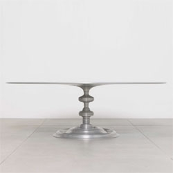 Lathe Table 1200 by Sebastian Brajkovic made from anodized aluminum.