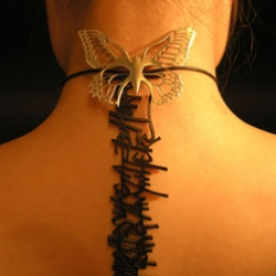 Beautiful Graffiti Jewellery by LauraUno a.k.a. Laura Bezant