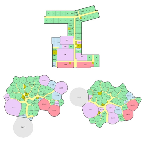 Joel Simon Evolving Floorplans - what if you used a genetic algorithm with the creative goal to approach floor plan design solely from the perspective of optimization and without regard for convention, constructability, etc?