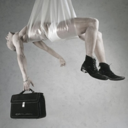 The Luciano Carvari 'No White' ad campaign shows that you can get creative while selling shoes and handbags.