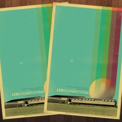 Limited Edition LCD Soundsystem poster for their June 3rd, 2010 show at The Fillmore in San Francisco.  Fresh!