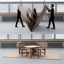 Liddy Scheffknecht's POP UP furniture is like a life sized pop up book!