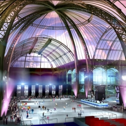 Le Grand Palais in Paris hosts the biggest ice rink in Europe under the famous glass roof !