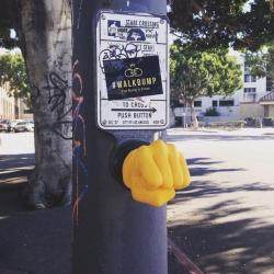 """Walkbump"": fist bump to cross by Alfredo & Alberto – Los Angeles"