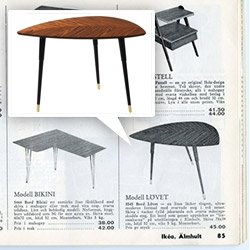 IKEA brings back one of its first flat pack pieces - the 1956 Lövet table as an updated, Lövbacken.