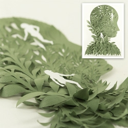 Amazing paper art inspirations at the tumblr blog of Lizzie Thomas