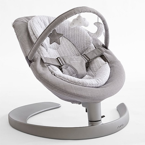 Nuna x PBK Leaf Grow Baby Bouncer - We love this Red Dot award winning bouncer for its silent (motorless) swing action, modern design, three tilt settings and evolution into a toddler lounge chair... the Pottery Barn edition has the best colors!