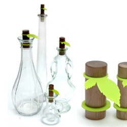 "No cork or bottle stopper will ever seem nearly as cool after checking out these ""Fresh Leaves"" by Tineke Beunders."