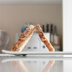 Lean Dish by Jon Liow props up your toast, helping to aerate the hot slices and allow them to become crisp.