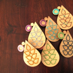 bamboo embroidered brooches