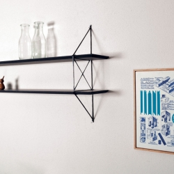 Carbon Serie is a minimalist design created by Netherlands-based designer Frank Winnubst. [Editor's Note: Reminiscent of String shelving?]