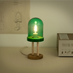 Designed by Alburno, makers of the LAST toys, the LED 1.0 is a vintage-style lamp representing what a prototype LED lamp might have looked like when the technology was invented in the 1960s.