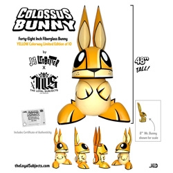"Wow. Joe Ledbetter is launching 48"" Fiberglass Limited Edition COLOSSUS Bunnies!"