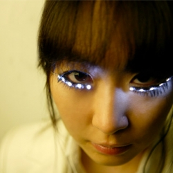 These LED eyelashes - designed to 'make your eyes look bigger' are just crazy.  We're not sure they make your eyes look bigger but they definitely make an impression!