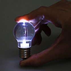 This little LED keychain flashlight looks just like a traditional incandescent light bulb