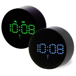 Blue and Green LED alarm clocks from I.D.E.A.