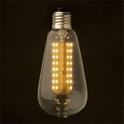 Dimmable LED E26 Clear Edison bulbs by Edison Light Globes