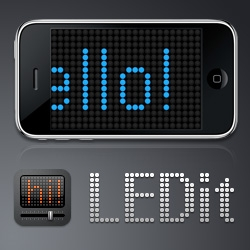 LEDit is a led screen ticker emulator for the iPhone and iPod Touch. LEDit is great to say something to your friends when they can't hear you, such as at the disco, in class, in business meetings, etc.