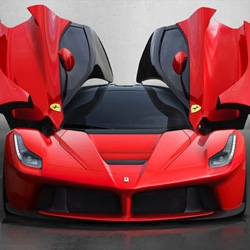 Ferrari introduces La Ferrari, the Enzo successor. The 6.3L V12 together with an electric motor produces 963 horsepower and has a top speed over 200mph.