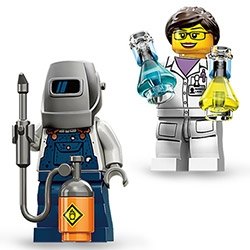 Newest Lego Minifigs (series 11) is here ~ fun lady scientist, welder... and more!