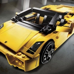 LEGO release their Lamborghini Gallardo LP560-4 Kit as a realistic 1:17 scale version of the supercar with 741 pieces. It even has an opening trunk, doors and engine compartment, and the Spyder's roof actually folds away.