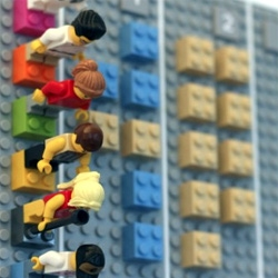 The Lego Calendar by Vitamins Design is a tangible wall calendar that syncs online through custom code and smartphone camera.