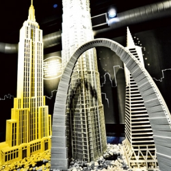 The LEGO architecture exhibition, currently showing at the National Building Museum in Washington DC.