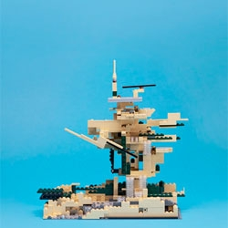 World-renowned architects, including Norman Foster and David Adjaye, reinterpret architecture classics in Lego form.