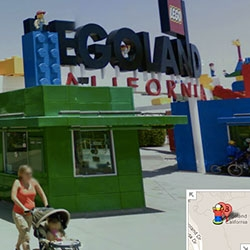 Ooooooh look up Legoland in Carlsbad, CA in google maps and see the little streetview guy turn into a LEGO MAN!!! And you can browse the whole park?!?!