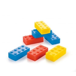 Donkey Creativ Lab's BOB /Building Block Soap look like legos. What could you build?