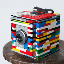 Cary Norton's Legotron, Mark 1, a 4x5 camera made of LEGO.