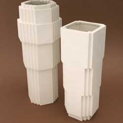 Jason Miller's stoneware Lego vases, now available in large or small from his gallery and soon available from Areaware!