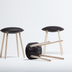 Bloated Stool is a minimalist design created by Belgium-based designer Damien Gernay.