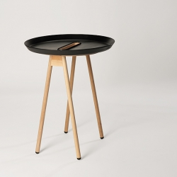 Button is a side table designed by Fredrik Wærnes. Wærnes is a Norwegian born designer now based out of Lausanne, Switzerland.