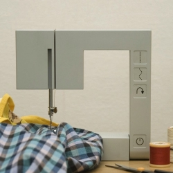 Presented at the London graduate show, New Designers, Foldable Sewing Machine is a minimalist design created by Richard Burrow.